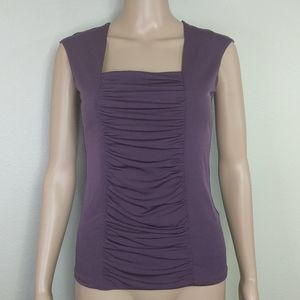 [Classiques Entier] Purple Ruched Sleeveless Tank